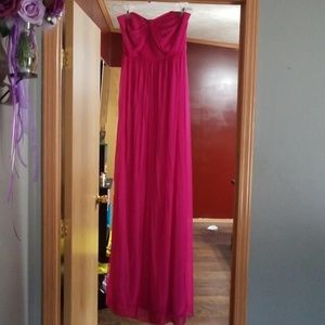 Fuchsia briesmaid dress